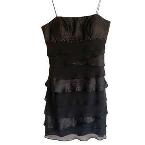 Camille La Vie Black Spaghetti Strap Dress